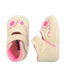 Giày tập đi bé gái BabyOne SS0822 - HELLO B&B - Size 17, 18 (Màu kem)