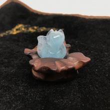 Mặt dây chuyền hồ ly đá Aquamarine