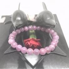 Vòng tay đá ruby (hồng ngọc) hạt 7mm