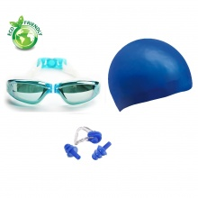 Bộ kính bơi, mũ bơi, bịt tai kẹp mũi 2360 POPO Collection (Xanh ngọc)