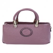 Túi xách tay nữ da bò cao cấp màu tím purple Edison Michael M129