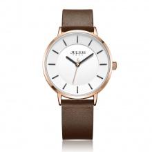 Đồng hồ nam Julius JA998 dây da nâu mặt trắng