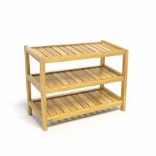 Kệ giày dép CZN363 gỗ cao su màu tự nhiên (3 tầng 63 x 30 x 50 cm) - COZINO