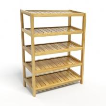 Kệ giày dép CZN563 gỗ cao su màu tự nhiên (5 tầng 63 x 30 x 86 cm) - COZINO