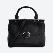 Túi xách tay nữ da bò cao cấp Edison Michael màu đen 6111black