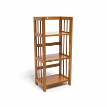Kệ sách 3 tầng CZN340 gỗ cao su màu cánh gián (40x30x90cm) - COZINO