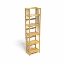Kệ sách 5 tầng CZN540 gỗ cao su màu tự nhiên (40x30x150cm) - COZINO