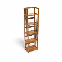 Kệ sách 5 tầng CZN540 gỗ cao su màu cánh gián (40x30x150cm) - COZINO