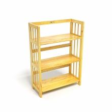Kệ sách 3 tầng CZN363 gỗ cao su màu tự nhiên (63x30x90cm) - COZINO