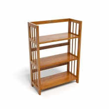 Kệ sách 3 tầng CZN363 gỗ cao su màu cánh gián (63x30x90cm) - COZINO
