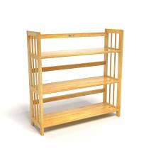 Kệ sách 3 tầng CZN388 gỗ cao su màu tự nhiên (88 x 30 x 90 cm) - COZINO