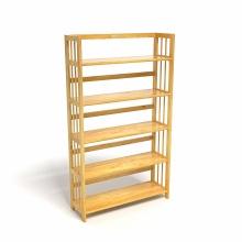 Kệ sách 5 tầng CZN588 gỗ cao su màu tự nhiên (88x30x150cm) - COZINO