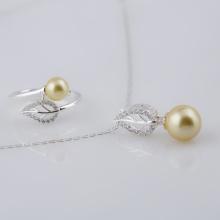 Opal bộ sản phẩm bạc đính ngọc ốc _T05