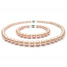 Opal -set vòng cổ và lắc tay ngọc ốc hồng -T05