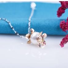 Opal - Dây chuyền bạc kèm mặt ngọc ốc_T05