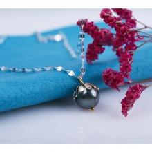Opal- dây chuyền bạc kèm mặt đính ngọc ốc_T05