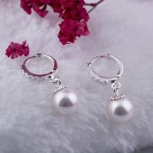 Opal - Hoa tai rơi bạc đính ngọc ốc _T05