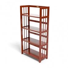 Kệ sách 4 tầng HB463 gỗ cao su màu cánh gián (63x30x90cm) - IBIE