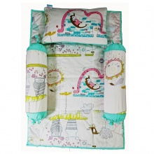 Bộ 4 món ga gối Sleep Baby - Colorful Nautre