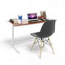 Bộ bàn Rec-Z trắng màu cánh gián và ghế Eames chân gỗ đen