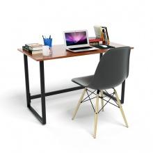 Bộ bàn Rec-F đen màu cánh gián và ghế Eames chân gỗ đen