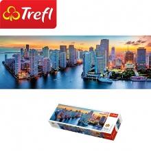 Tranh ghép hình TREFL 29027 - panorama 1000 mảnh Miami chiều tà (jigsaw puzzle tranh ghép hình chính hãng TREFL)