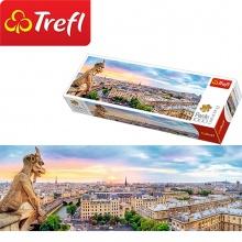 Tranh ghép hình TREFL 29029 - panorama 1000 mảnh nhìn từ nhà thờ Đức Bà, Paris (jigsaw puzzle tranh ghép hình chính hãng TREFL)