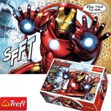 Bộ 4 tranh ghép hình TREFL mini 54140 - 54 mảnh đội quân Avenger/ Disney Marvel (jigsaw puzzle tranh ghép hình chính hãng TREFL)