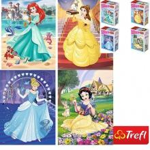 Bộ 4 tranh ghép hình TREFL miniMaxi 56004 - 20 mảnh trong thế giới công chúa/ Disney Princess  ) (jigsaw puzzle tranh ghép hình chính hãng TREFL)