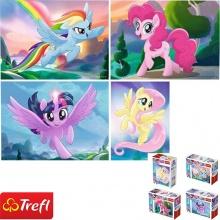 Bộ 4 tranh ghép hình TREFL miniMaxi 56007 - mỗi tranh  20 mảnh phép thuật của Ponnie/ Hasbro, My Little Pony Movie 2017  (jigsaw puzzle tranh ghép hình chính hãng TREFL)