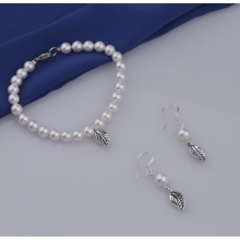 Opal - vòng tay và hoa tai ngọc ốc 6li _T05