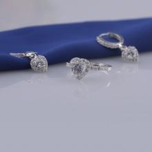 Opal - Nhẫn bạc kết hợp hoa tai bạc _T05