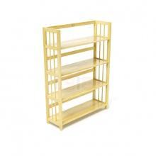 Kệ sách 4 tầng HB490 gỗ cao su màu tự nhiên (90x30x120cm) - IBIE
