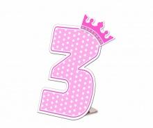 Số tuổi Happy birthday - Công chúa 3 tuổi
