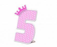 Số tuổi Happy Birthday - Công chúa 5 tuổi