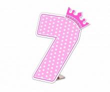 Số tuổi Happy Birthday - Công chúa 7 tuổi