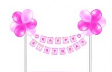 Khung treo trang trí Happy Birthday - Công chúa
