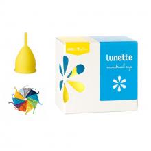 Cốc nguyệt san Lunette, Phần Lan - Hàng nhập khẩu chính hãng (màu Vàng, size 1, hộp hoa)