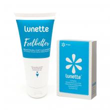 Bộ phụ kiện vệ sinh cốc nguyệt san chuyên dụng của hãng Lunette, Phần Lan - Hàng nhập khẩu chính hãng (tuýp 100 ml)