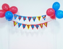Khung treo trang trí Happy Birthday - Siêu nhân