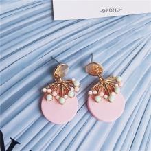 Bông tai thời trang zuna - Tatiana - Bh3022 (hồng nhạt)
