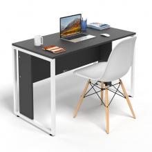 Bộ bàn làm việc CZN-Hidu gỗ cao su sơn đen chân trắng và ghế eames trắng  - COZINO