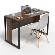 Bộ bàn làm việc CZN-Hidu gỗ cao su veneer óc chó chân đen và ghế eames trắng   - COZINO