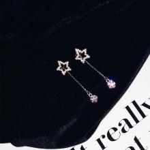 Bông tai Korea shine staropi - Tatiana - BH3021 (Bạc)