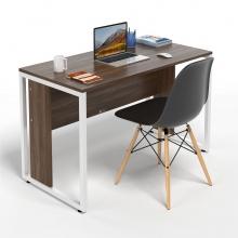 Bộ bàn làm việc CZN-Hidu gỗ cao su veneer óc chó chân trắng và ghế eames đen  - COZINO