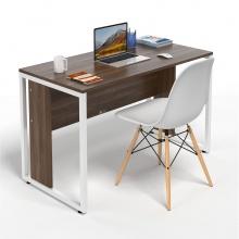 Bộ bàn làm việc CZN-Hidu gỗ cao su veneer óc chó chân trắng và ghế eames trắng  - COZINO