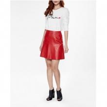 Mimi - Chân váy da đỏ