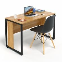 Bộ bàn làm việc CZN-Hidu gỗ cao su veneer sồi chân đen và ghế eames đen  - COZINO