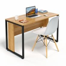 Bộ bàn làm việc CZN-Hidu gỗ cao su veneer sồi chân đen và ghế eames trắng  - COZINO