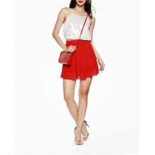 Mimi - Chân váy xếp ly đỏ